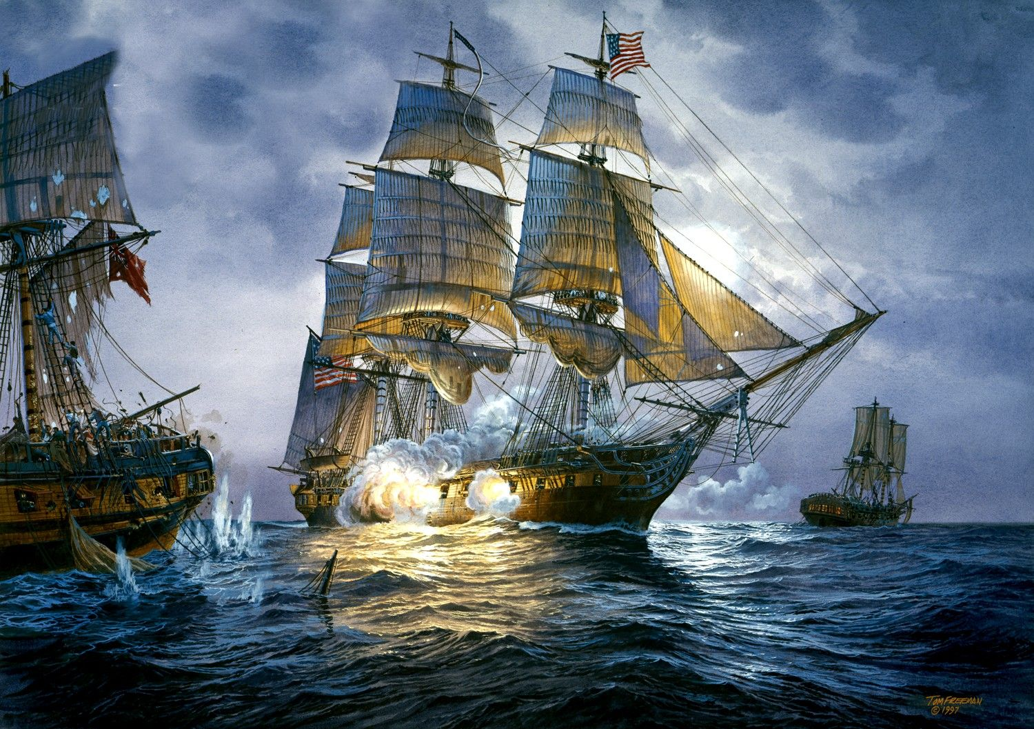 Cheap Wall Murals The Uss Constitution By Tom Freeman Cousin Tom