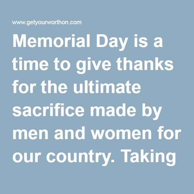 Memorial Day is a time to give thanks for the ultimate sacrifice made by men and women for our country. Taking the time to add your own unique touch to the day set aside each year for their remembrance not only shows you care, but adds to the festivities held in their honor. Hope everyone has a safe and happy Memorial Day!