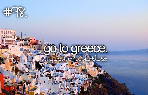 Griekse eilanden bezoeken en Grieks kunnen praten:...DOE IK!!!!