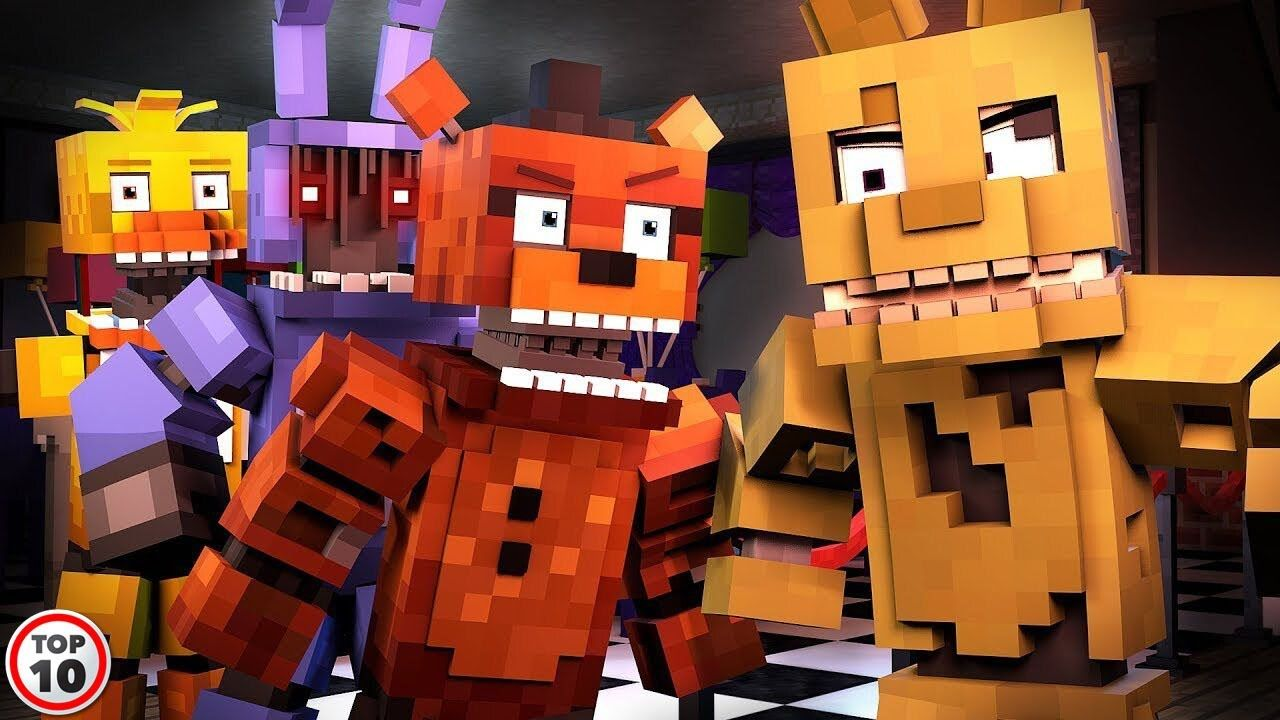Top 12 Scary FNAF Crossovers in 12  Animated music videos, Fnaf