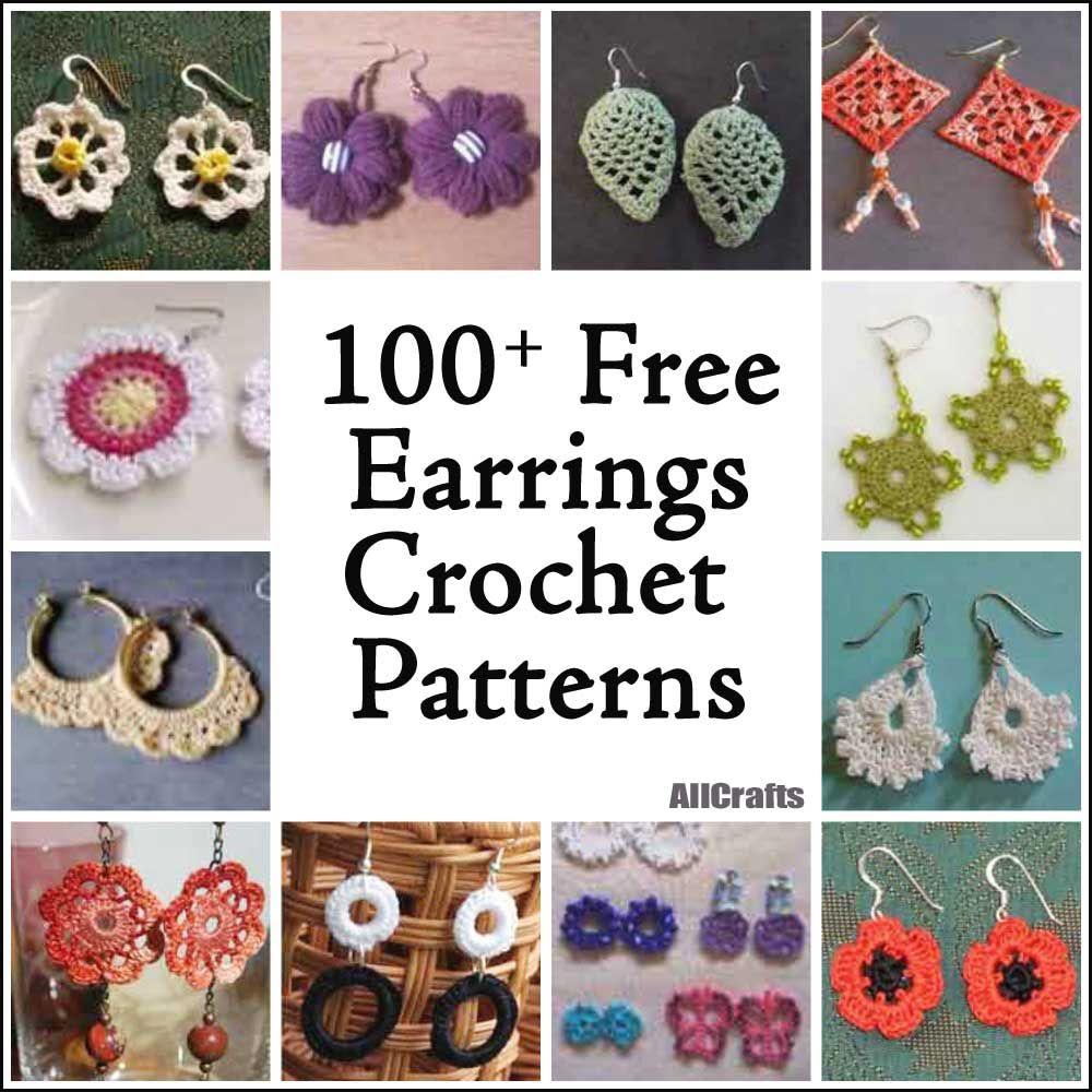 100+ Free Crochet Earrings Patterns   accesorios   Pinterest ...