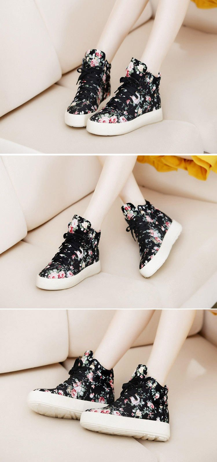 4a6803690da Buy Freesia Floral High-Top Platform Sneakers