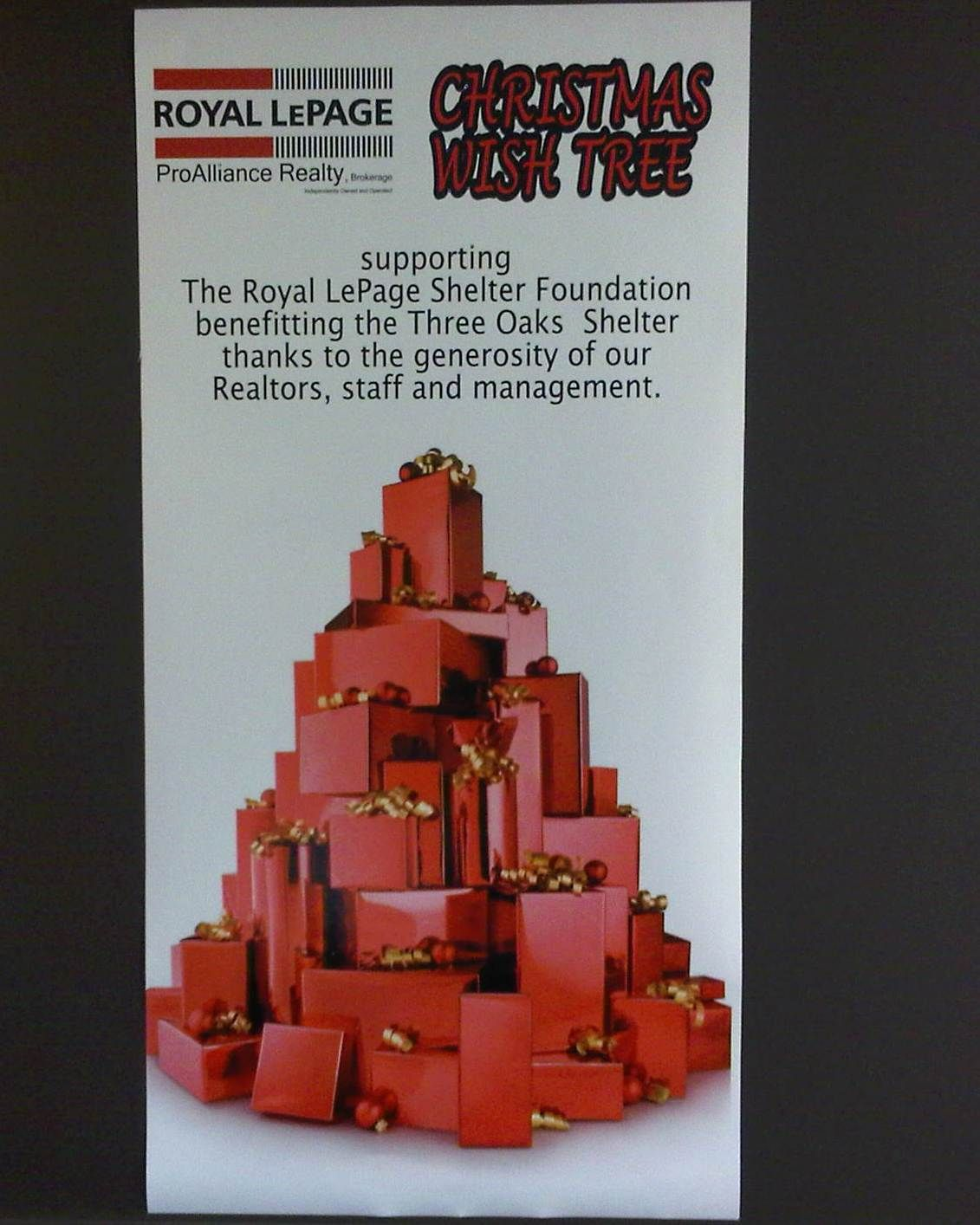 Royal LePage Trenton supporting 3 Oaks Womans Shelter ...
