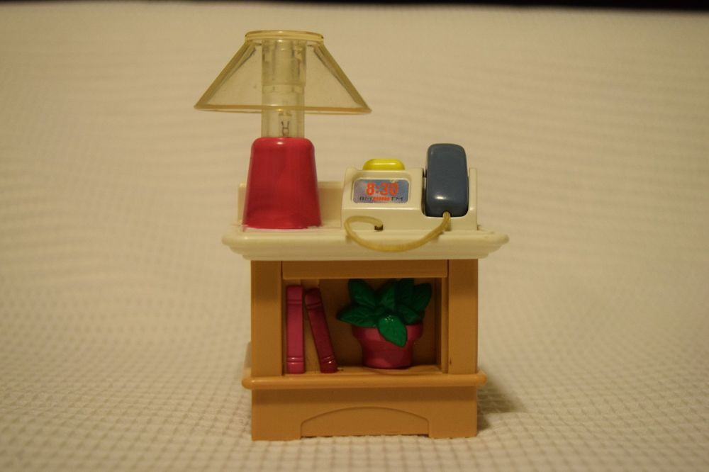 1999 Fisher Price Loving Family Dollhouse End Table Lamp