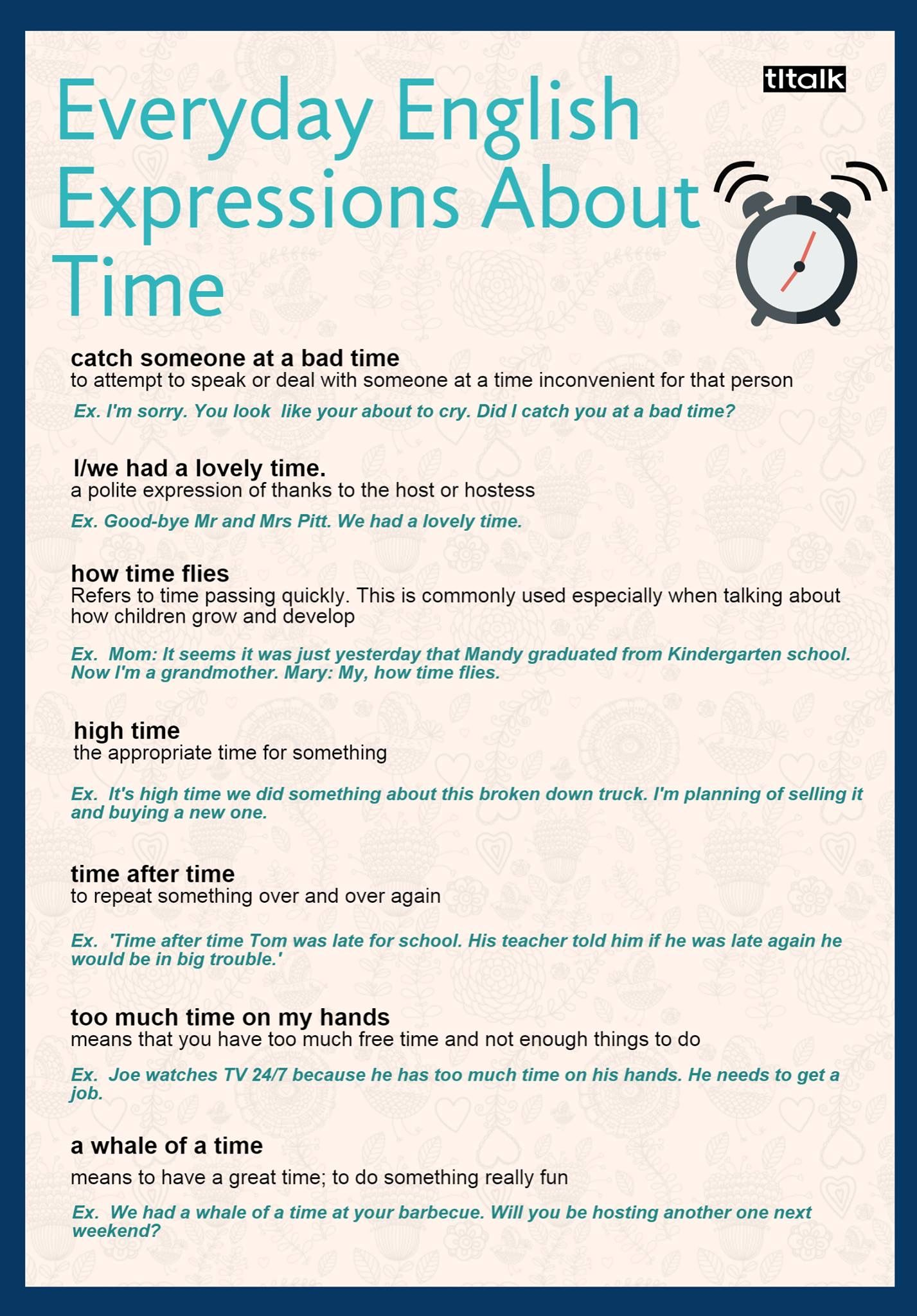 Everyday English Expressions About Time | English Language ...