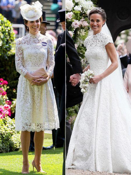 Pippa S Wedding.Was Princess Kate S Royal Ascot Dress Inspired By Sister Pippa S