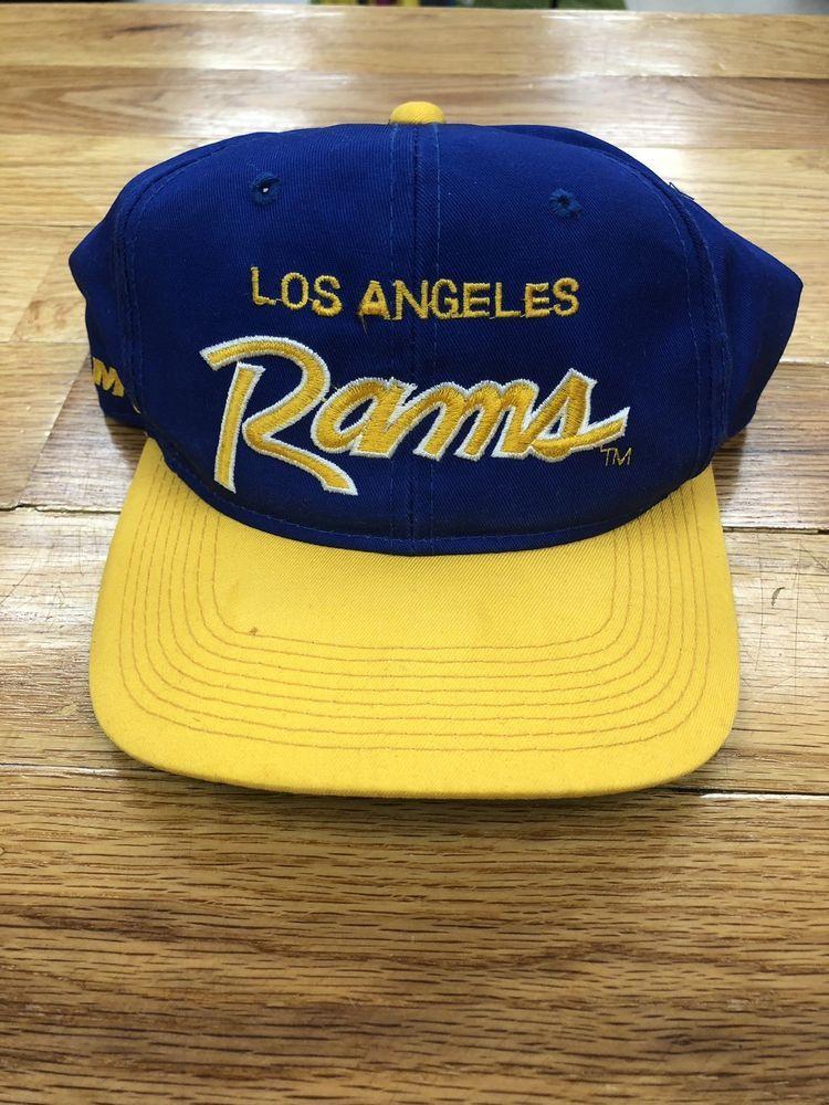 7aaa1ae8195 Vintage 90s Sports Specialties LA Rams Snapback Hat