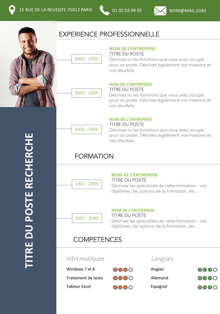 Exemple de CV Professionnel gratuit à télécharger