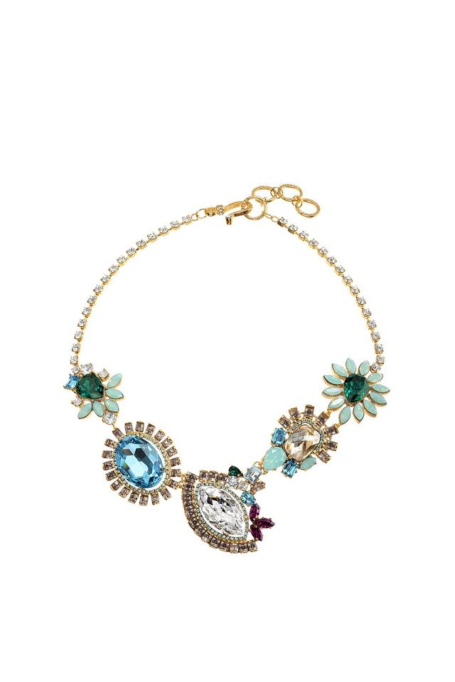 3b2579d3592 Otazu Classic jewelry necklaces blue green The great pacific multi-floral  necklace