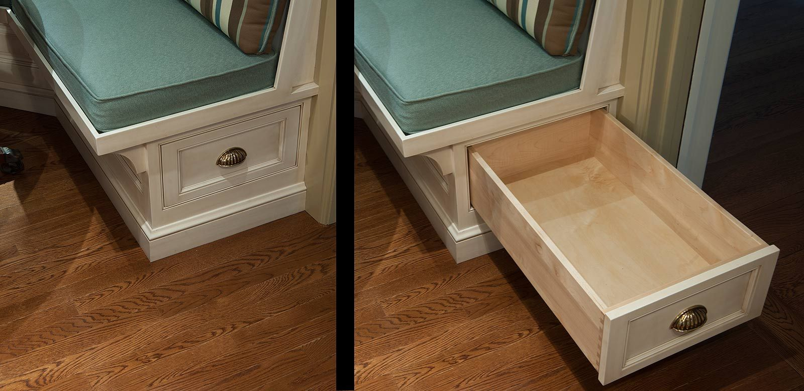 Custom Bench Seat With Storage Drawer Cabinet