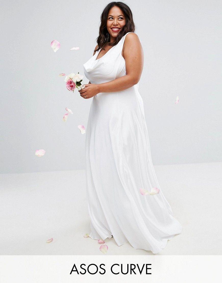 Plus size formal beautiful plus size soft drape front maxi dress