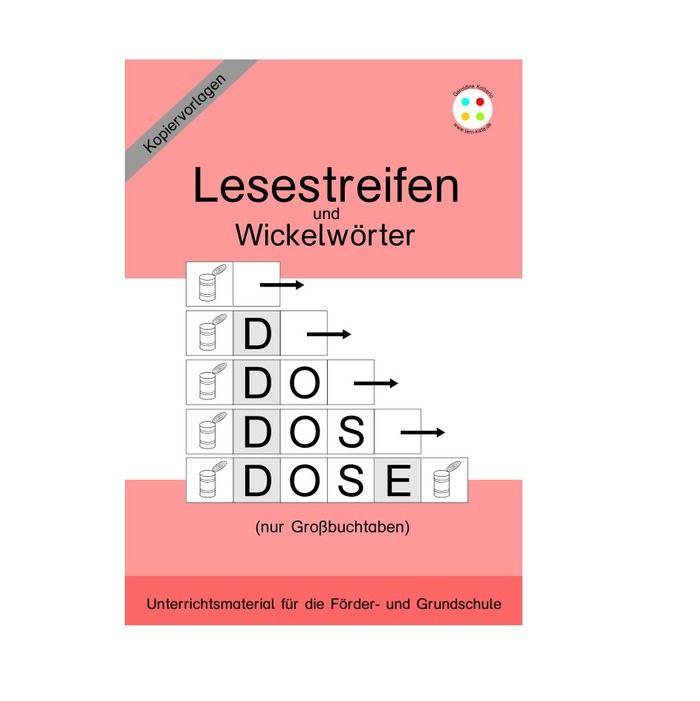 Lesestreifen und Wickelwörter (nur Großbuchstaben) | Pinterest ...