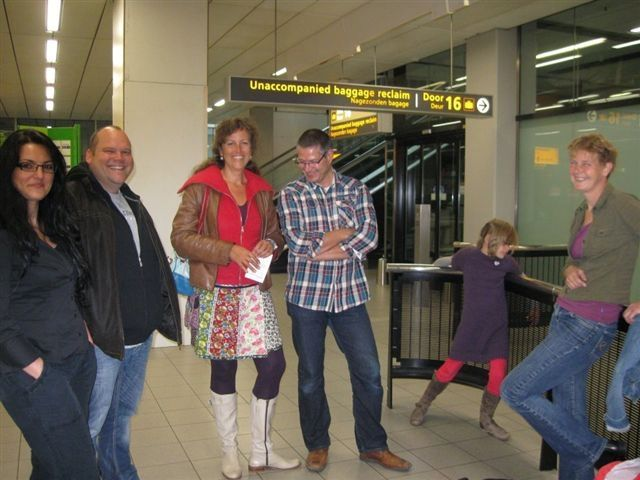 Dutch families at the Schipol airport waiting for their furry babies to come from Romania....