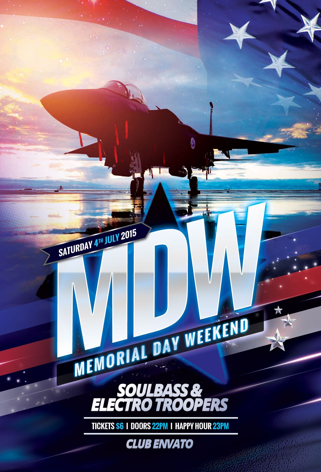memorial day weekend flyer download psd file 6 party poster