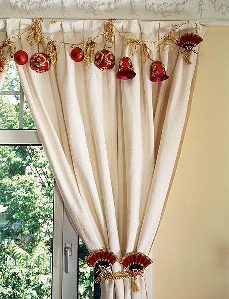 ventanas y cortinas adornos navideos muy originales
