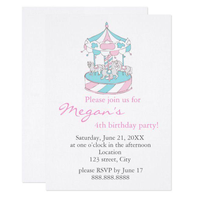 Marry-go-round - Child Birthday Invitation #Sponsored , #Aff, #Birthday#Invitation#created#Shop