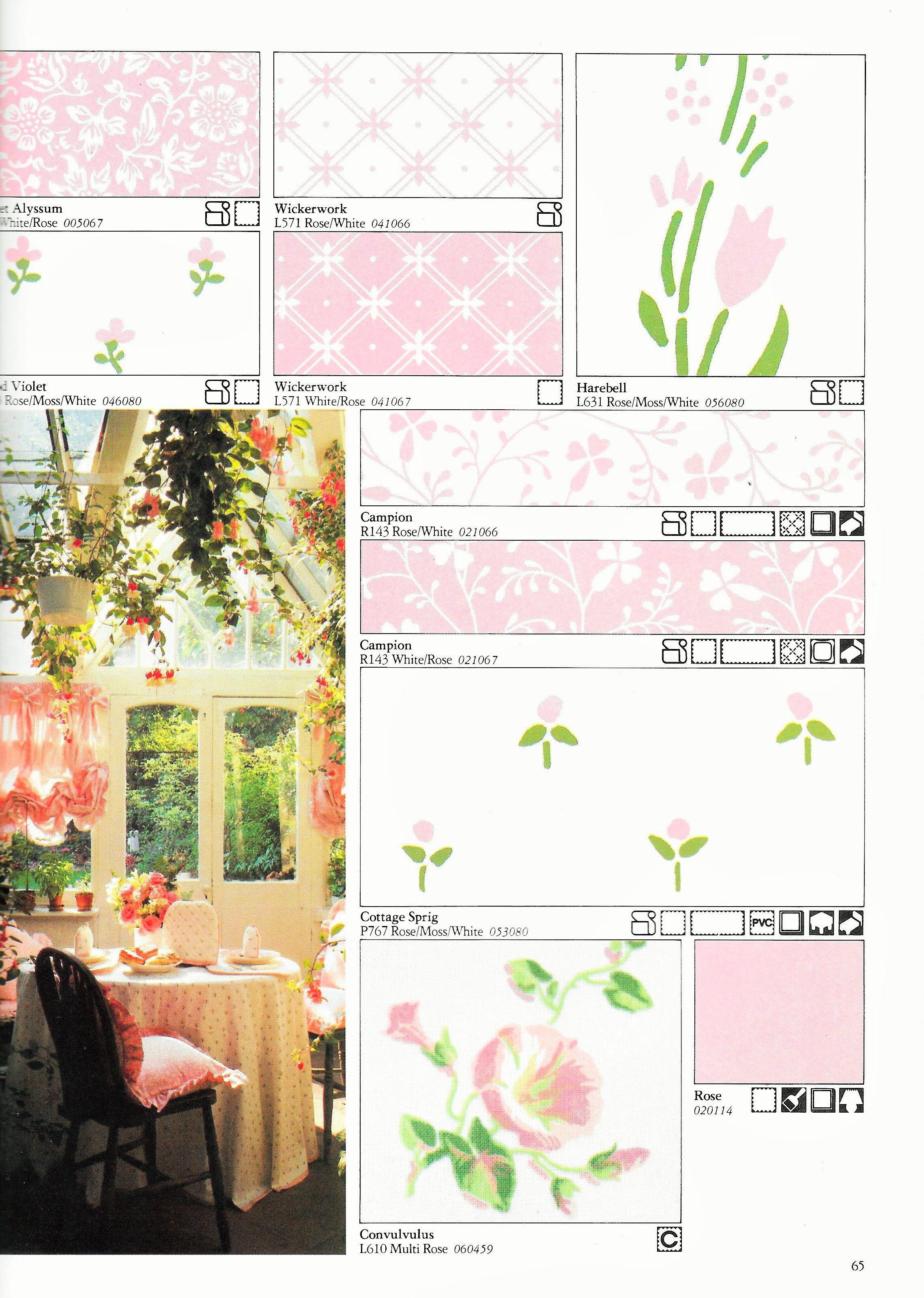 Laura Ashley 1983 Home Furnishings Catalogue Sweet Alyssum Wood Violet Wickerwork Harebell