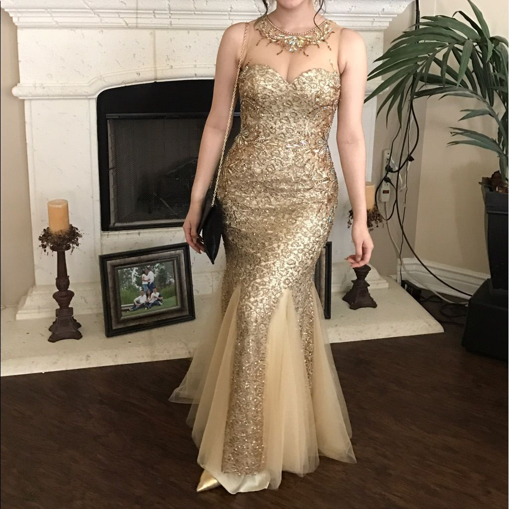 Gold prom dress model is in other dress pics dress models and