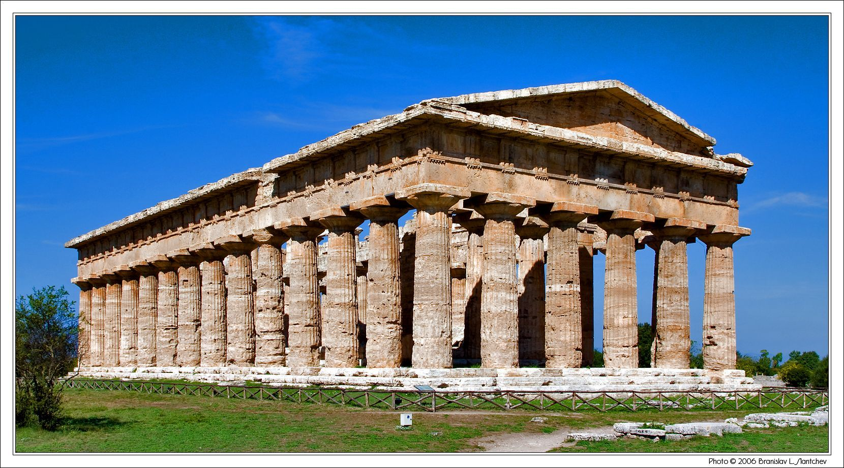 The Back Of The Temple Of Hera Ii With