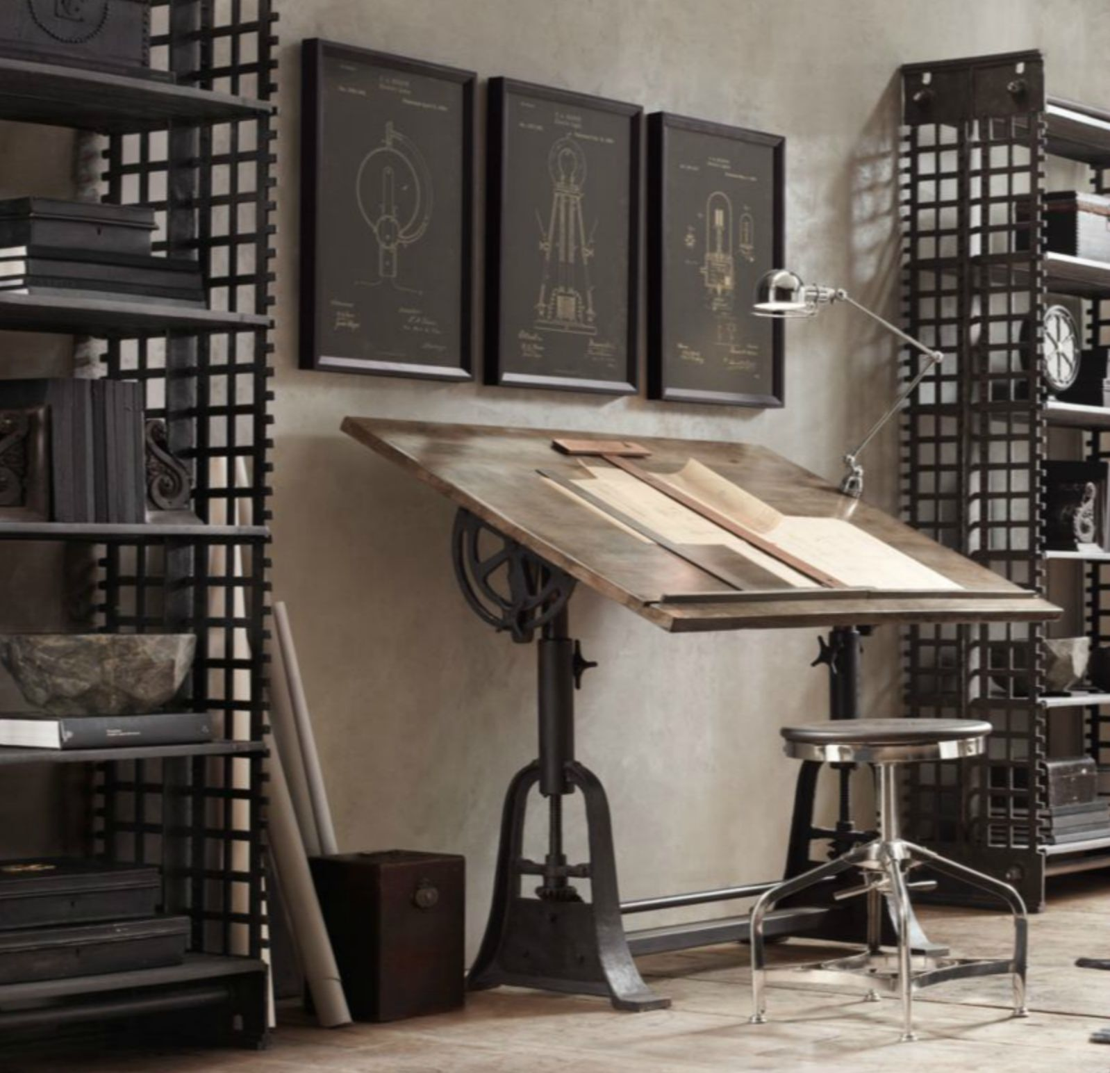 Finds Drafting Table From Restoration Hardware # Muebles Tubulares Ponce