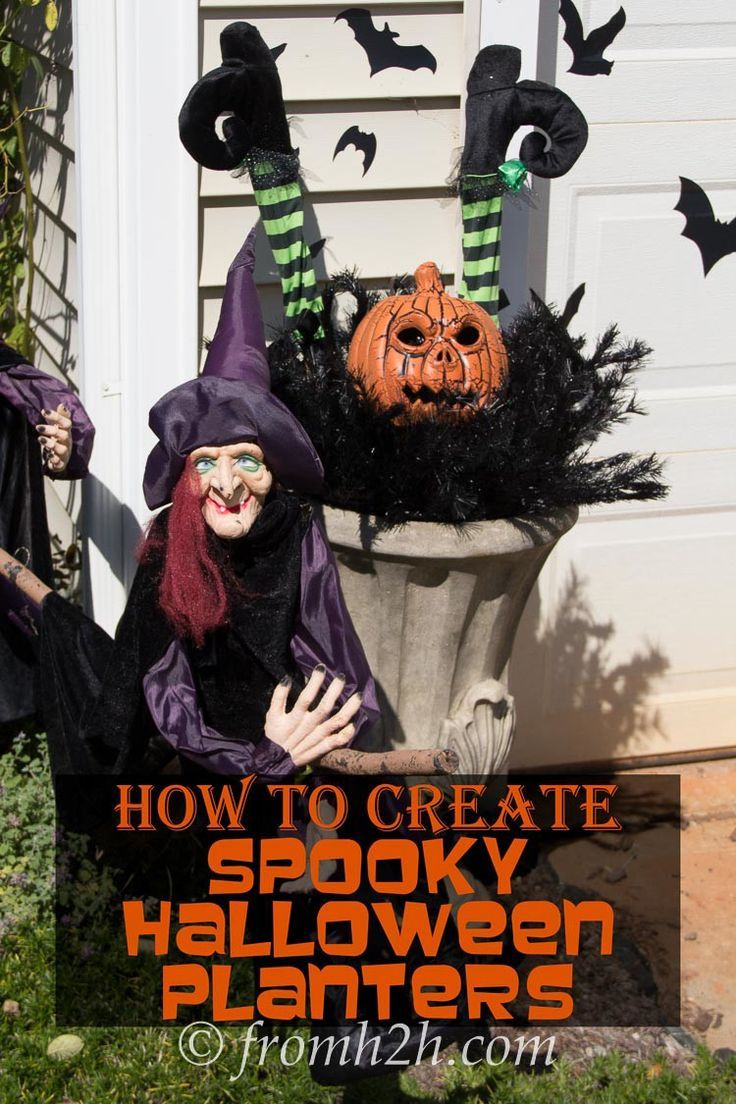 How To Create Spooky Halloween Planters