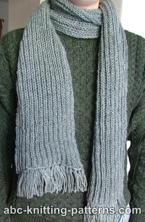 Free Knitting Scarf Pattern Knitting Pinterest Knitting