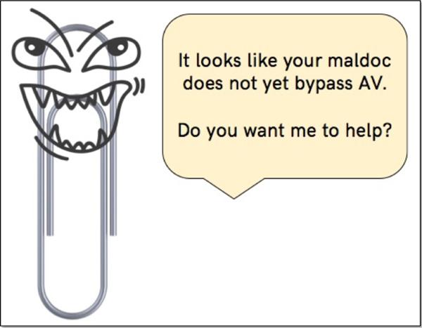 Evil Clippy makes malicious Microsoft Office docs