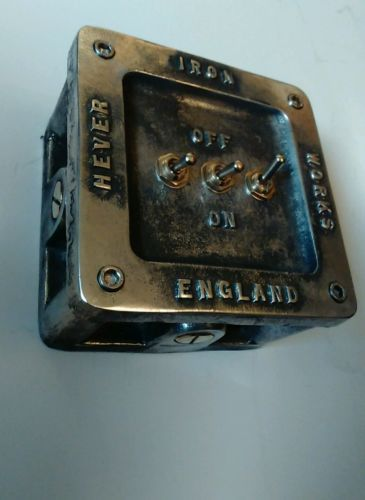 Vintage Industrial 123 Gang Cast Metal Heavy Light Switch BS