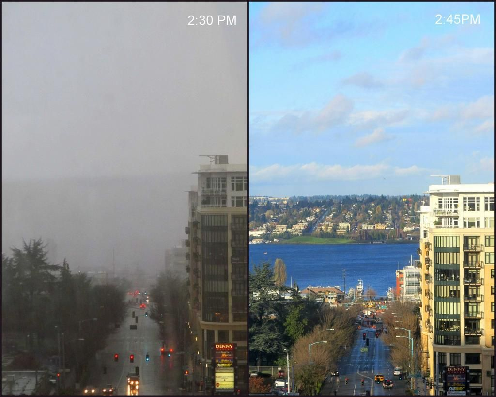 Oh Seattle Our 15 Minute Weather Change Today 11 20 12 Seattle
