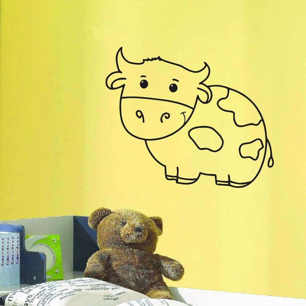 Cow Kids Room Vinyl Wall Art Decal Sticker | Products | Pinterest ...