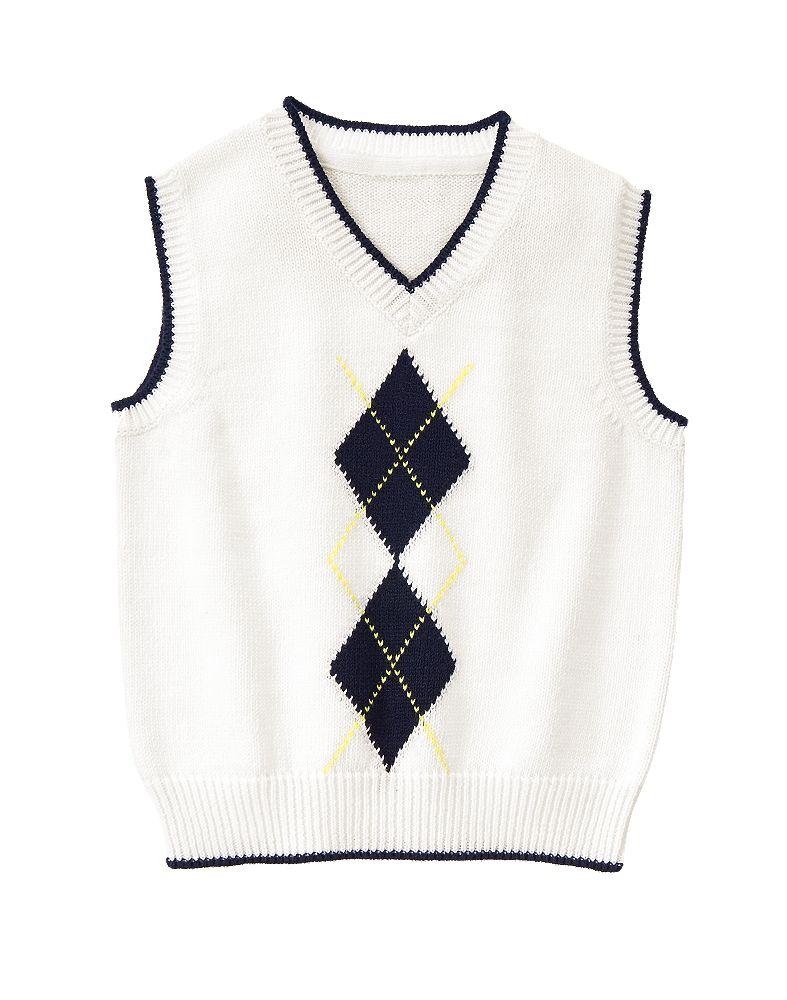 Gymboree Toddler Boy White Argyle Sweater Vest | Gymboree | Kids ...