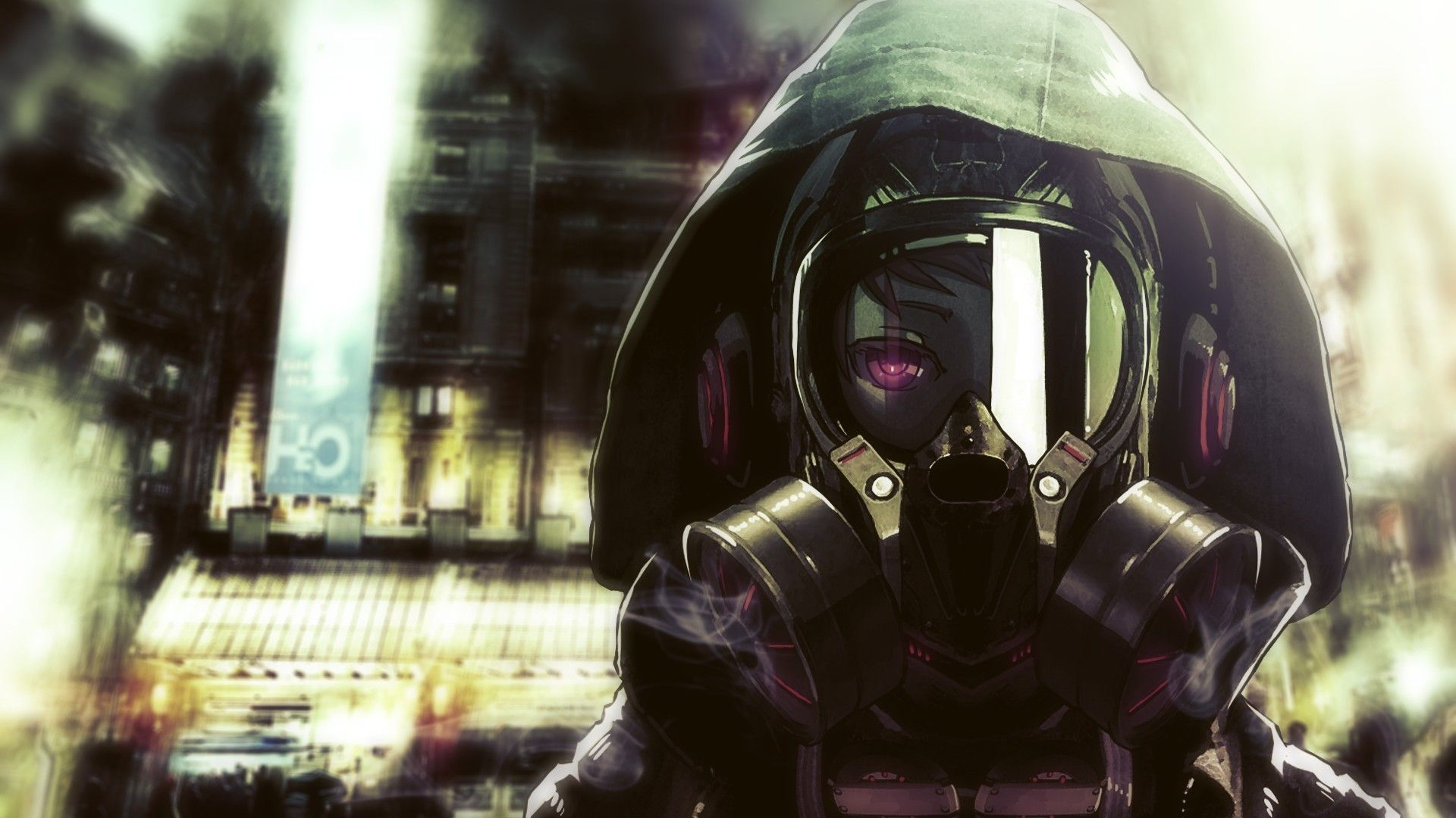 Anime Sci Fi Anime Gas Mask Wallpaper | Keiitsuo Nightcore ...
