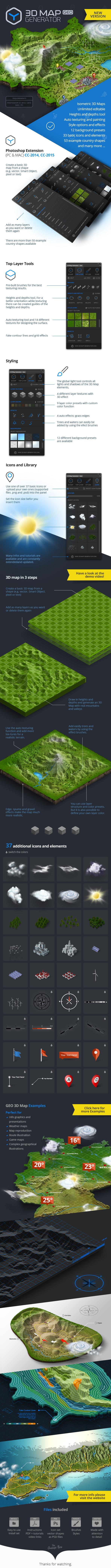 3D Map Generator - GEO - Utilities Actions | Web and Design | Map