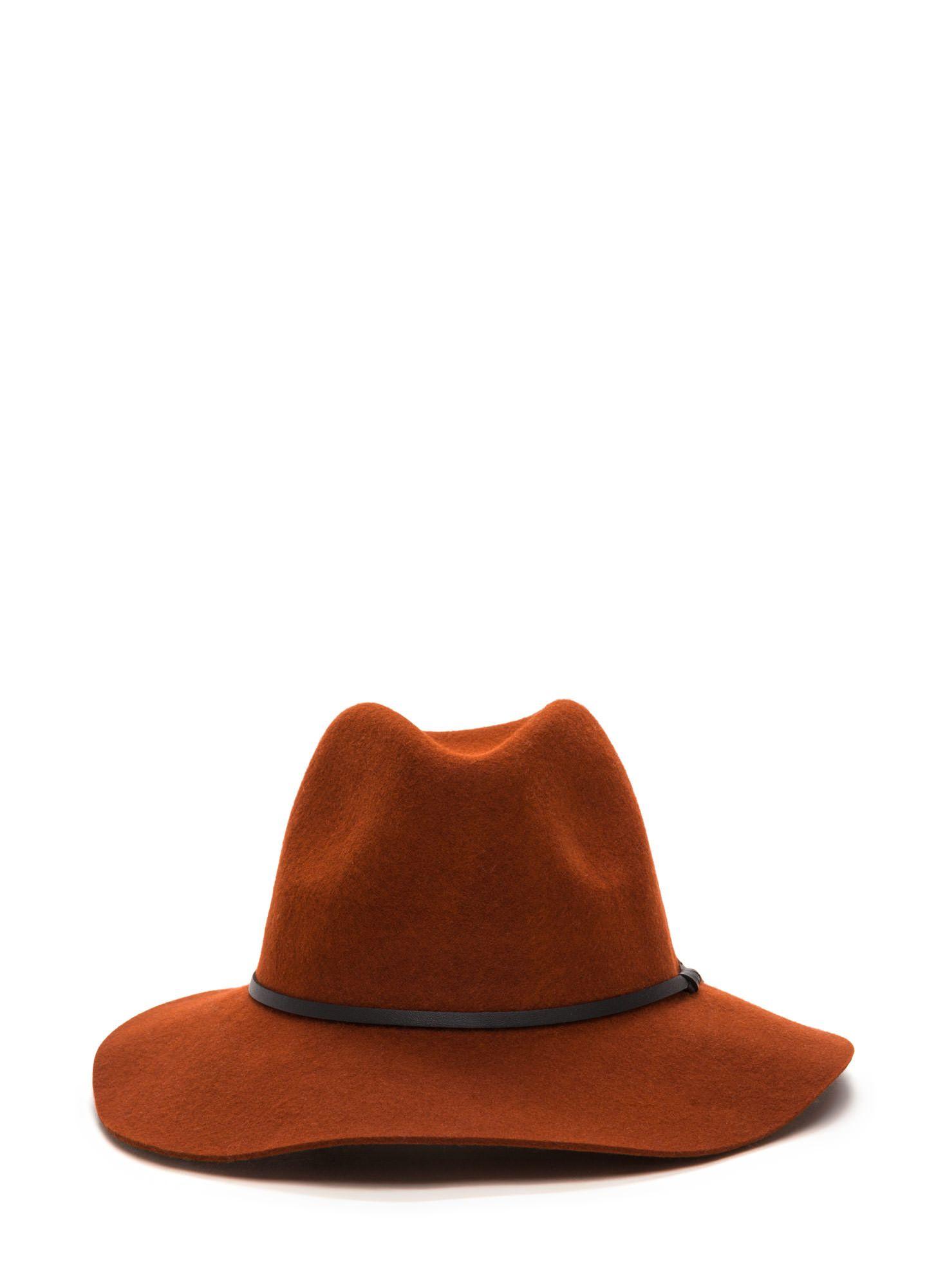 cef45bac2b61e Top It Off Wool Fedora Hat RUST