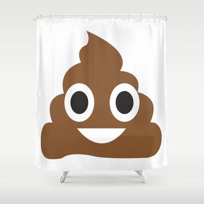 A Little Poop Emoji Shower Curtain By Anthonykun