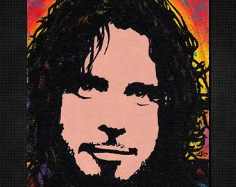 Chris Cornell Etsy With Images Pop Art Painting Chris