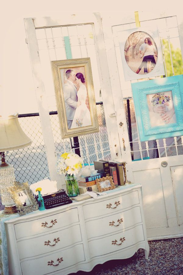 guest book table dresser. NF- did this and I loved it.  Great entryway
