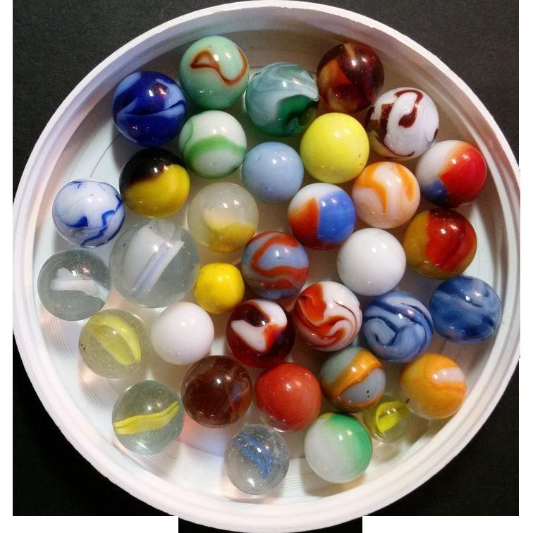 Vintage Marbles: Lot 34 Akro Agate, Peltier, Christensen Lot # 1