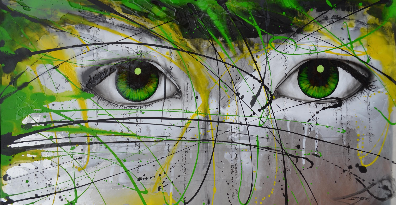 """«Luciole»  30 x 60 """"  Disponible à la Galerie d'Art Émeraude, Mtl  https://www.facebook.com/ALampronArtiste"""