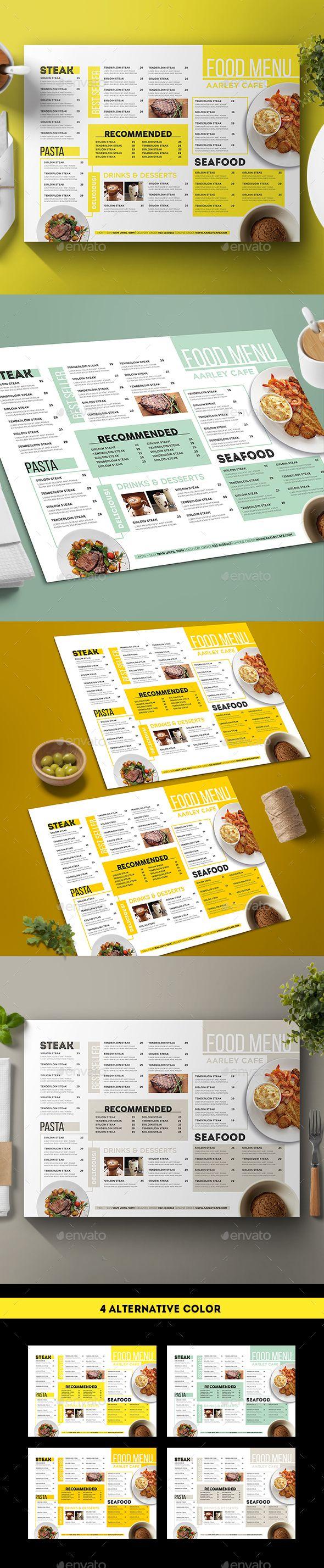 modern menu - food menus print templates | food ideas | pinterest