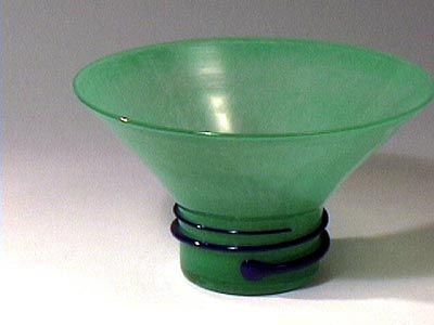 Contrast Cone Bowl Green by Burchetta
