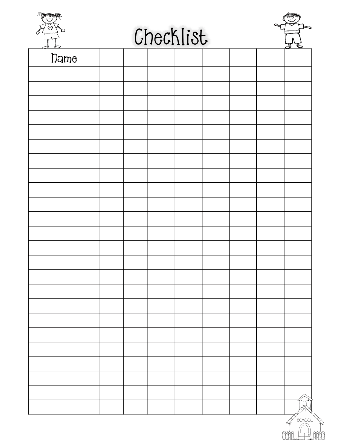 Class List Blank Pdf  Classroom Organization