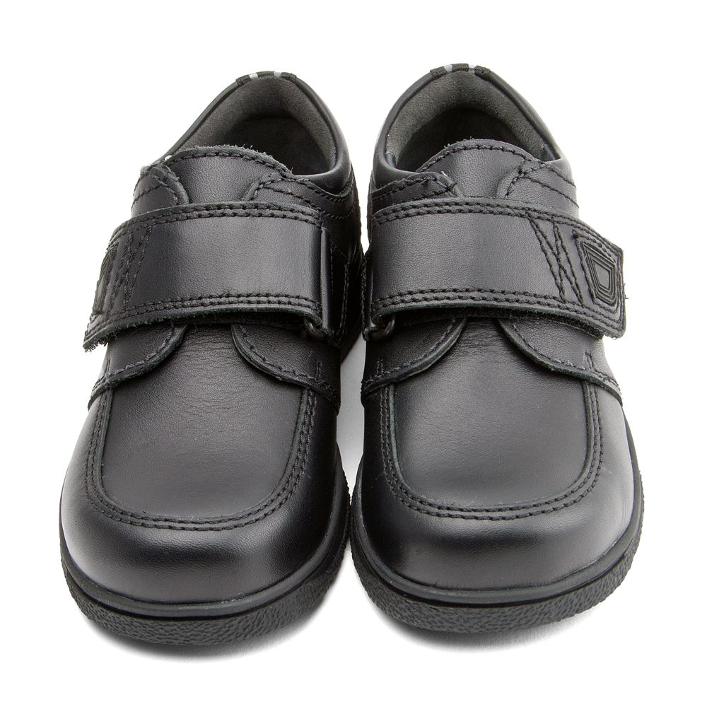 """NEW STARTRITE BOYS /""""ACCELERATE/"""" BLACK LEATHER SCHOOL SHOES.VARIOUS SIZES//WIDTHS"""