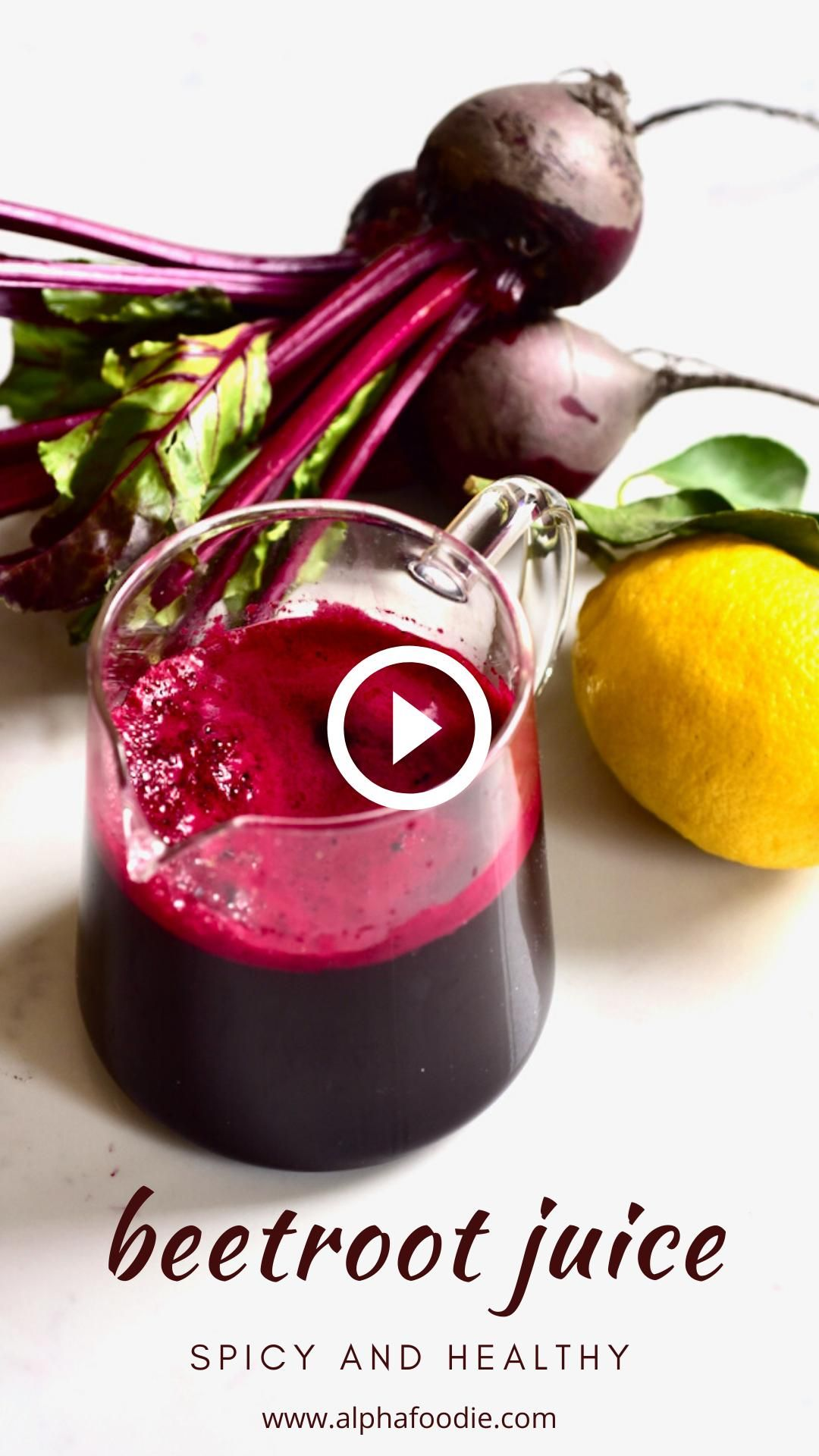 Simple Beetroot And Ginger Juice Recipe