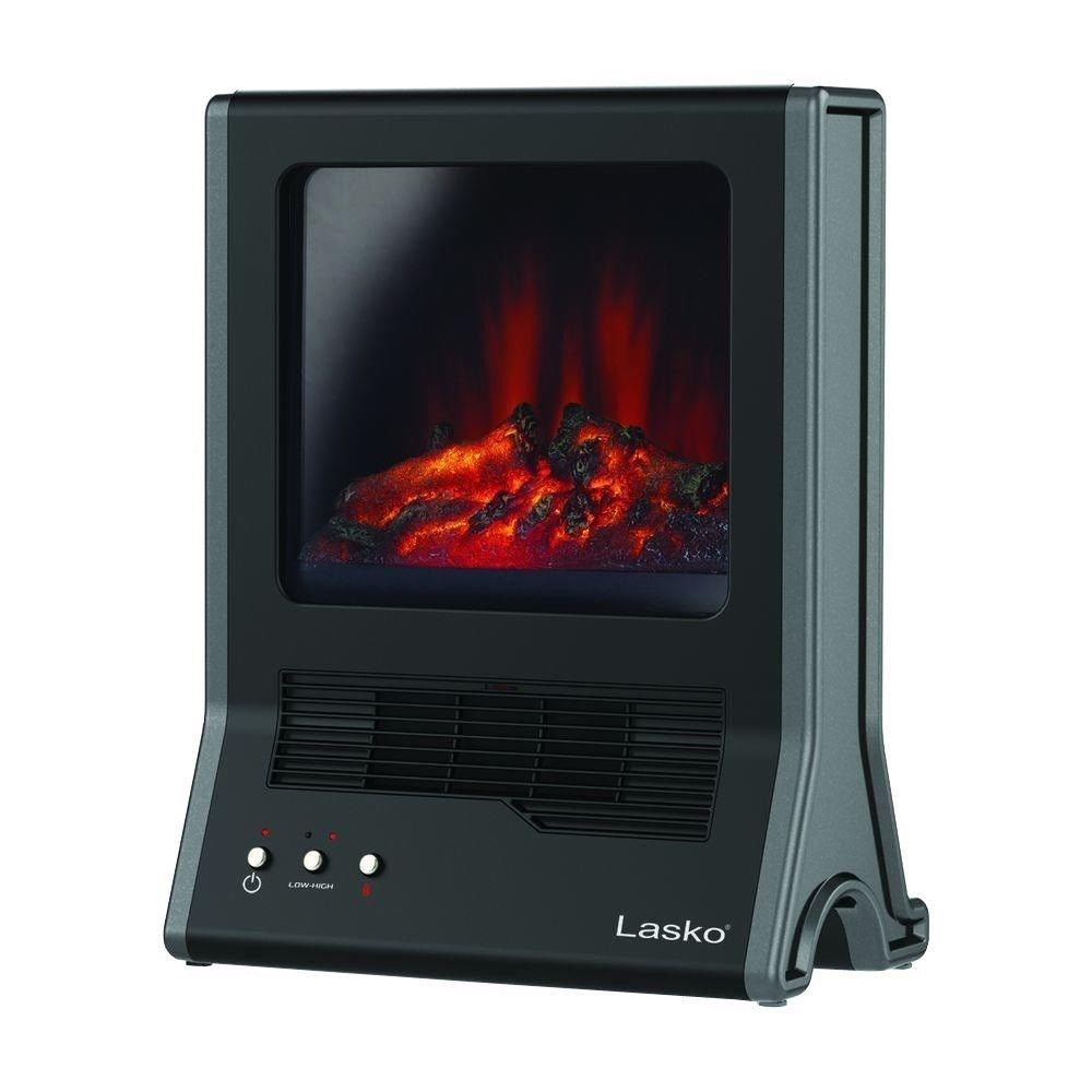 Lasko 1500 Watt Ultra Ceramic Fireplace Portable Heater Cozy Ambience Stay  Warm