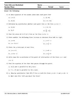 Pdf Algebra Geometry Pre Algebra Middle School Math 8th Grade Math Coordinate Pl Division Worksheets Synthetic Division Reading Comprehension Worksheets
