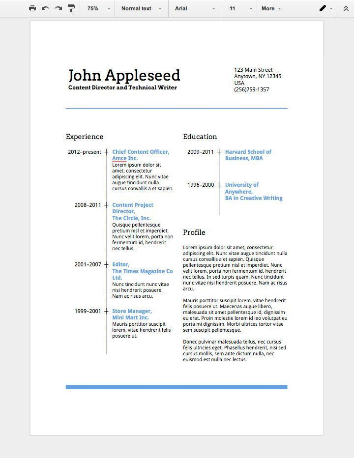 Free Resume Templates For Google Docs Excellent How To Make A Professional Resume In Goog With Images Student Resume Template Resume Templates Downloadable Resume Template