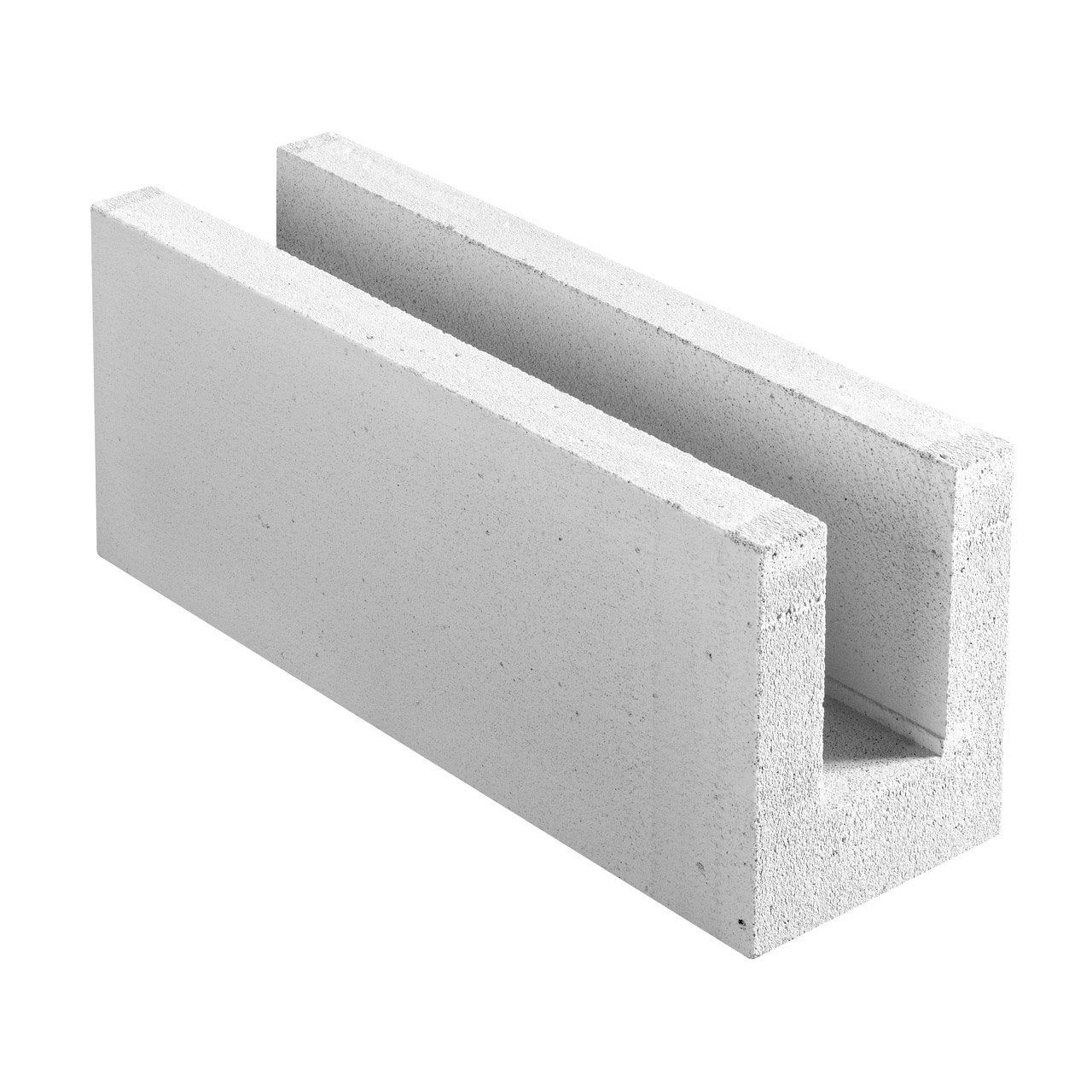 Bloc Beton Cellulaire L 62 5 X L 25 X Ep 20 Cm Siporex Bloc Beton Cellulaire Beton Cellulaire Et Beton
