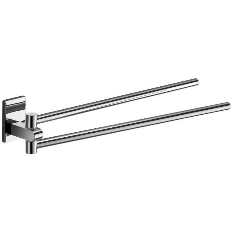 Swivel Towel Bar Gedy 7823 13 14 Inch Polished Chrome Double Arm