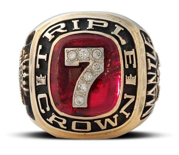 Mickey Mantle Triple Crown Ring Mickey Mantle Yankees Baseball Baseball Memorabilia